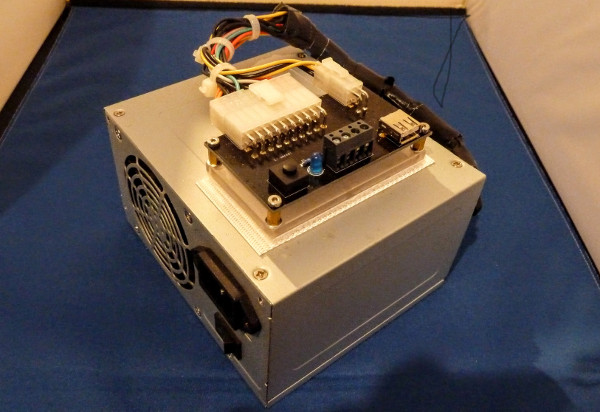 ATX Breakout Board mounted on power supply
